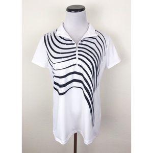 Zenergy Golf 1/4 Zip Short Sleeve Polo Shirt 1